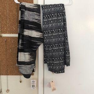 Legging bundle, never worn, both size large